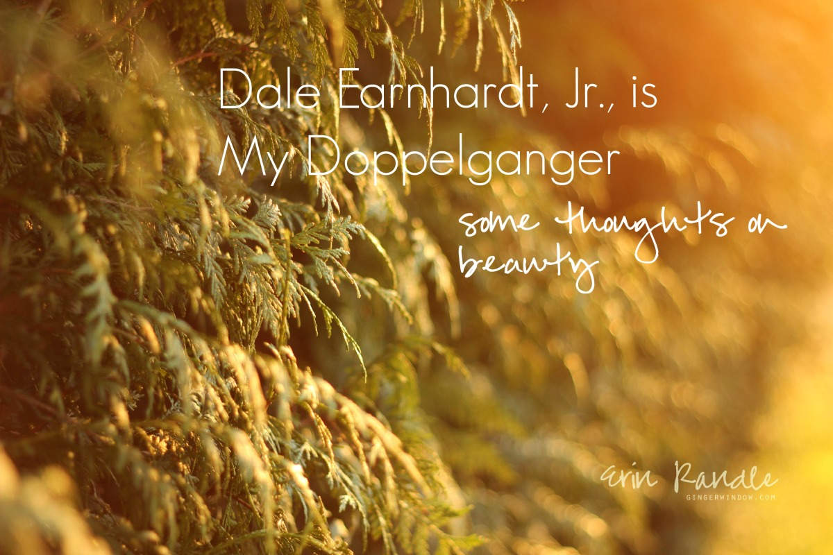 Through the Ginger Window: Dale Earnhardt, Jr., is my doppelganger || Some thoughts on beauty